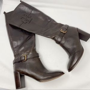 Tory Burch heigh leather boots